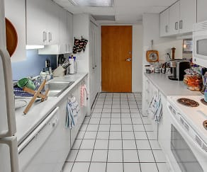 Kitchen, Seventeen Hundred Designer Residences
