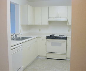 Kitchen, Evia Senior Apartments