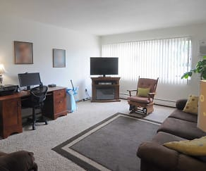Living Room, Golfview Crossings Apartments
