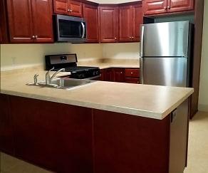 Kitchen, Pioneer Apartments