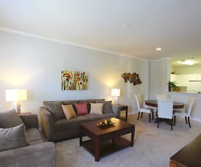 Living Room, Rivers Bend Apartment Homes