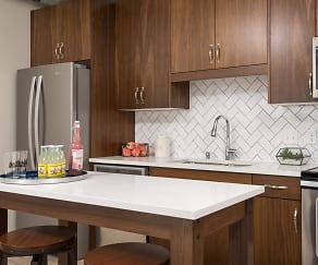 Kitchen, Oaks Union Depot Apartments