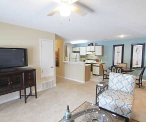 Living Room, The Addison at Collierville