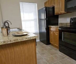 Kitchen, Lakewood Village Apartments
