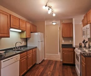 Kitchen, Cityscape Apartments