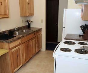 Kitchen, Foot Lake Apartments
