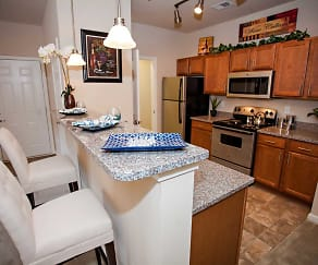 Kitchen, Clemmons Town Center Apartments