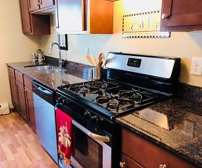 Kitchen, Granite City Apartments