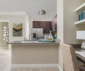 Home Office and Open Kitchen - Creekstone at RTP Apartments, Creekstone at RTP