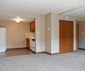 Living Room, Fiddlers Flats & Sherwood Apartments
