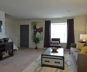 Living Room, Dunfield Townhomes and Apartments