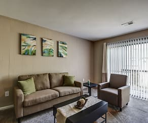 Living Room, Walnut Glen Apartments