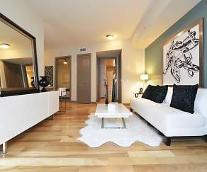 Living Room, Memorial Hills Apartments