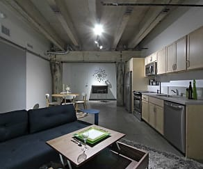 Kitchen, Brew House Lofts