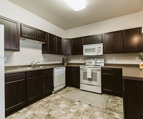 Kitchen, Diamond Bend Apartments