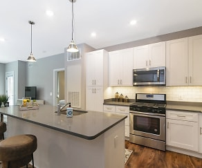 Kitchen at Keva Flats, Keva Flats