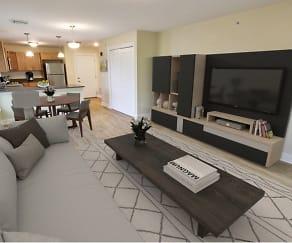 Living Room, Mohawk Riverfront Apartments