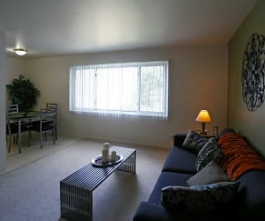 Living Room, Arbor West Apartments