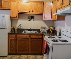 Kitchen, Riverside Apartments