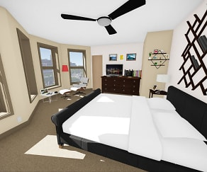 Bedroom, 616 Niagara Apartments