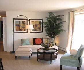 Living Room, Waterview Apartments