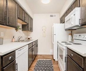 Kitchen, University Crossing Apartments