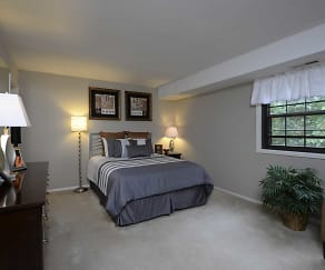 Bedroom, Liberty Gardens Apartments & Townhomes