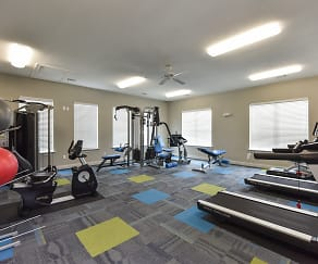 Fitness Weight Room, Heights on Parmer Apartment Homes