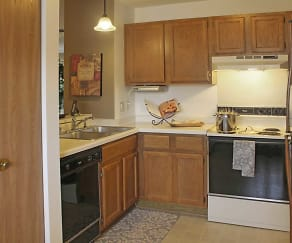 Kitchen, Plum Tree Apartments