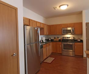 Kitchen, Clearwater Apartments