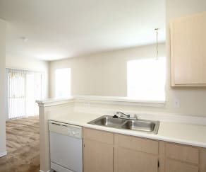 Kitchen, Madison Trail Apartments