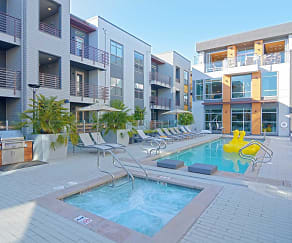 Pool, Elan Menlo Park Luxury Apartments