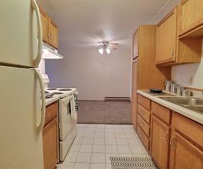 Kitchen, Timberland Apartments