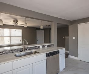 Kitchen, Plaza East Apartments & Townhomes