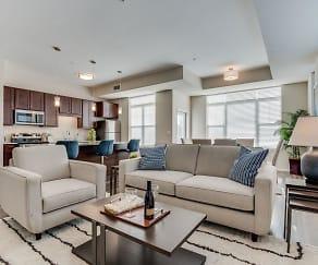 Living Room, The Oaks at Shorewood Senior Residences