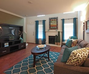 Living Room, The Abbey at Conroe