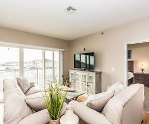 Living Room, Stone Creek Apartments