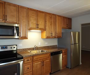Kitchen, Riviera Apartments