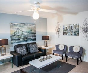 Living Room, Goldelm at Metrowest