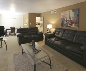Living Room, Stratford Manor Apartments
