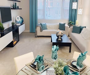 Living Room, Sovereign & Saxony Apartments