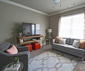 Living Room, Apex on Preston Apartments