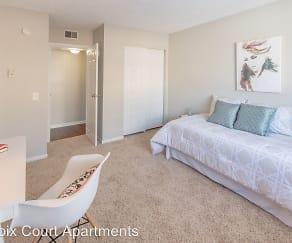 Bedroom, LaCroix Court Apartments