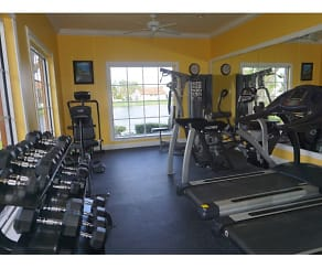 Fitness Weight Room, Lago Club Apartments