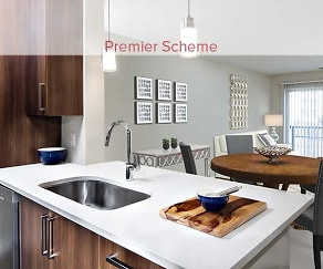 Premier Scheme Kitchen and Dining Area, Avalon Mamaroneck