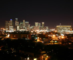 One of the Spectacular Nighttime Views of Downtown Houston from 230 West Alabama Apts, 230 West Alabama Apartments