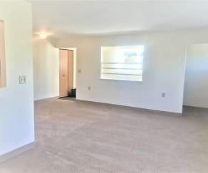 Living Room, Evergreen Hills Apartments