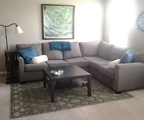 Living Room, Glenwood Village Apartments