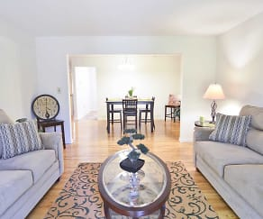 Living Room, Woodmere Apartments