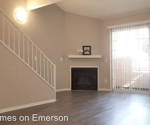 Living Room, 8600 Emerson Avenue Leasing Office